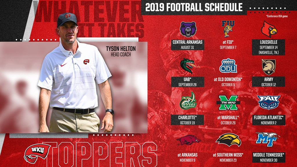 Hilltoppers Announce Complete 2019 Football Schedule Western