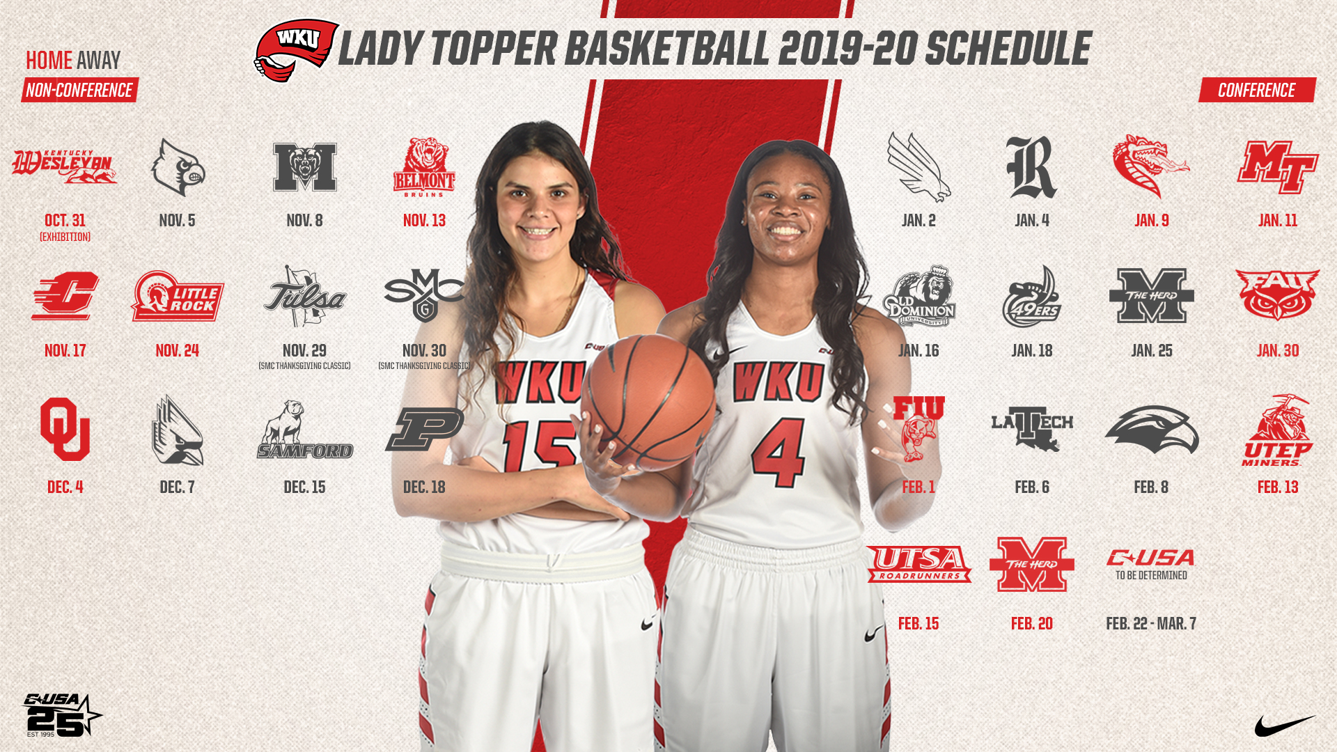 Lady Topper Basketball Announces Complete 2019 20 Schedule