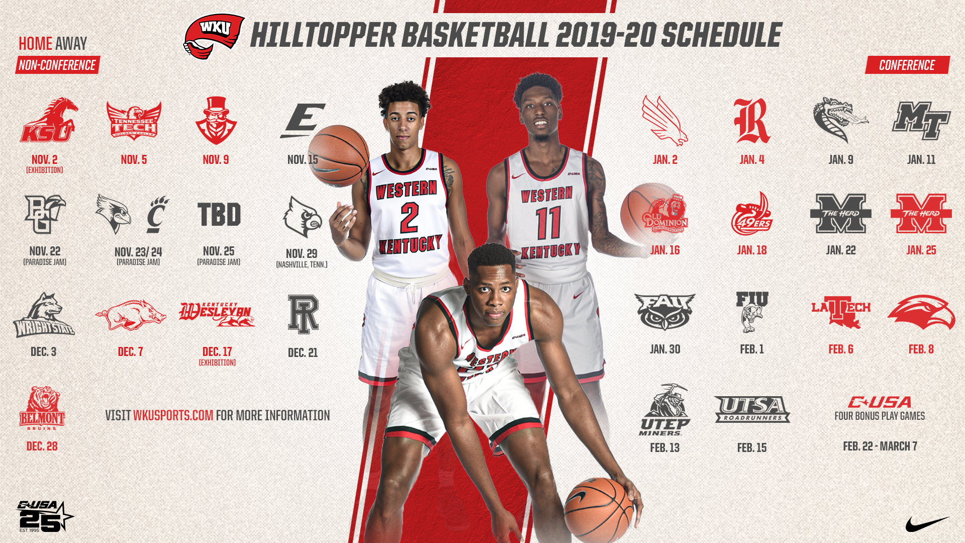 Hilltopper Basketball Releases Full 2019 20 Schedule